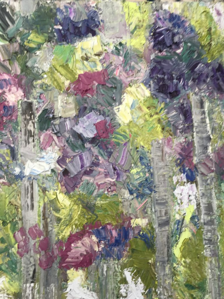 Rhododendrons 56x 46 cms impasto oil on canvas cost £280